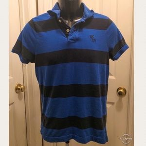 Royal Blue/Blk Abercrombie and Fitch Polo